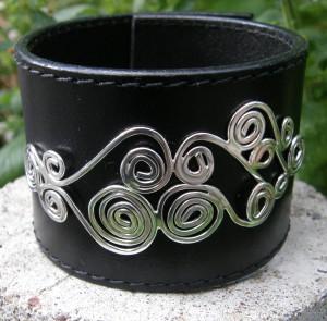 Gammalt bälte, dekoration i sterling silver.