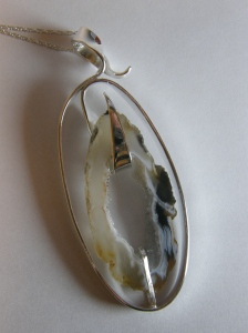 Sterling silver, Occo agate.