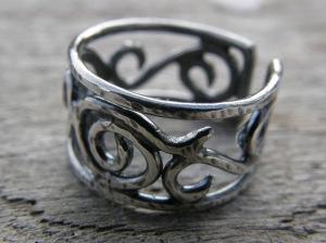 Sterling silver.